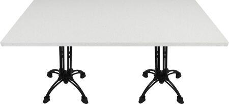 Q403 30X60-CA18-24D 30x60 Snow White Quartz Tabletop with 17