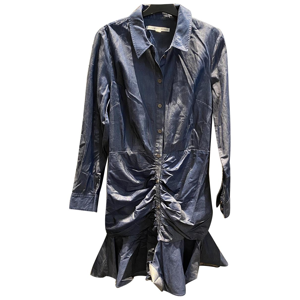 Veronica Beard \N Blue Cotton dress for Women 6 US
