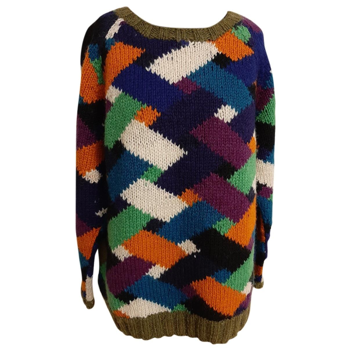 Marni - Pull   pour femme en laine - multicolore