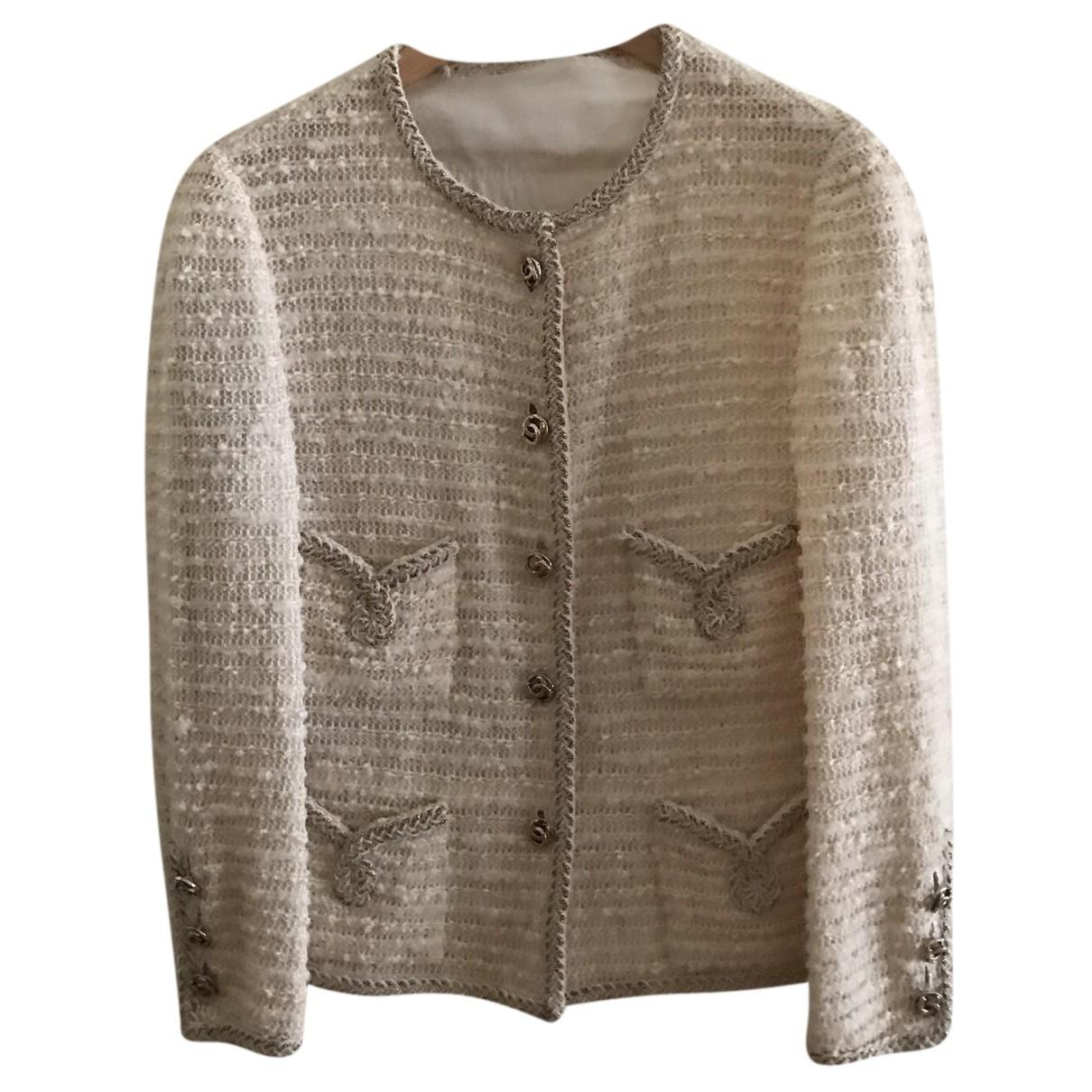Chanel N Beige Wool jacket for Women 44 IT