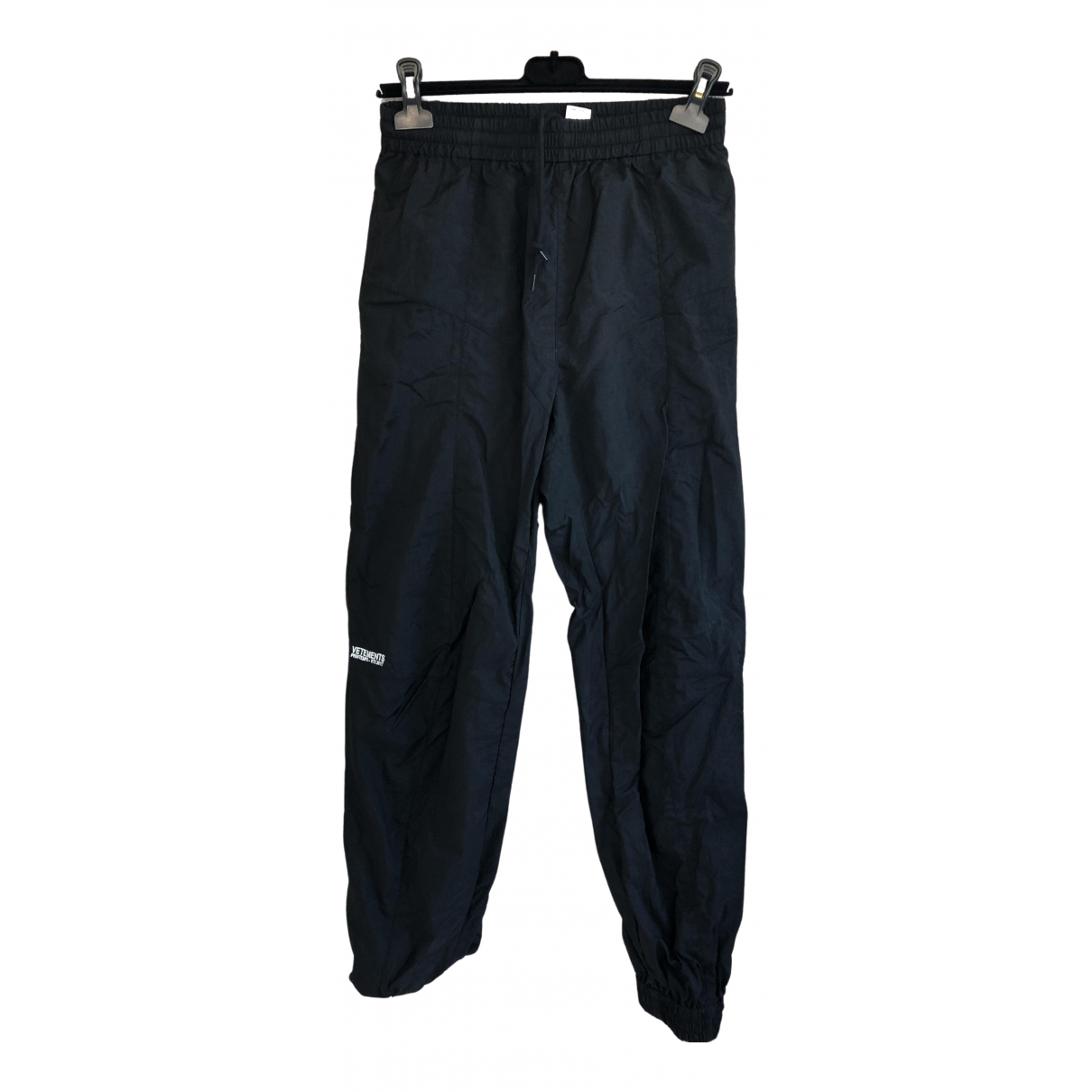 Vetements N Black Cotton Trousers for Women S International
