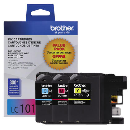 Brother MFC-J870DW couleur cartouches dencre originale cyan/magenta/jaune, ensemble de 3 paquet