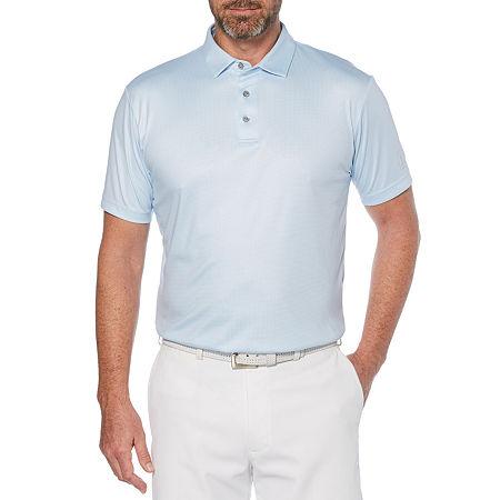 PGA TOUR Mens Short Sleeve Polo Shirt, X-large , Blue