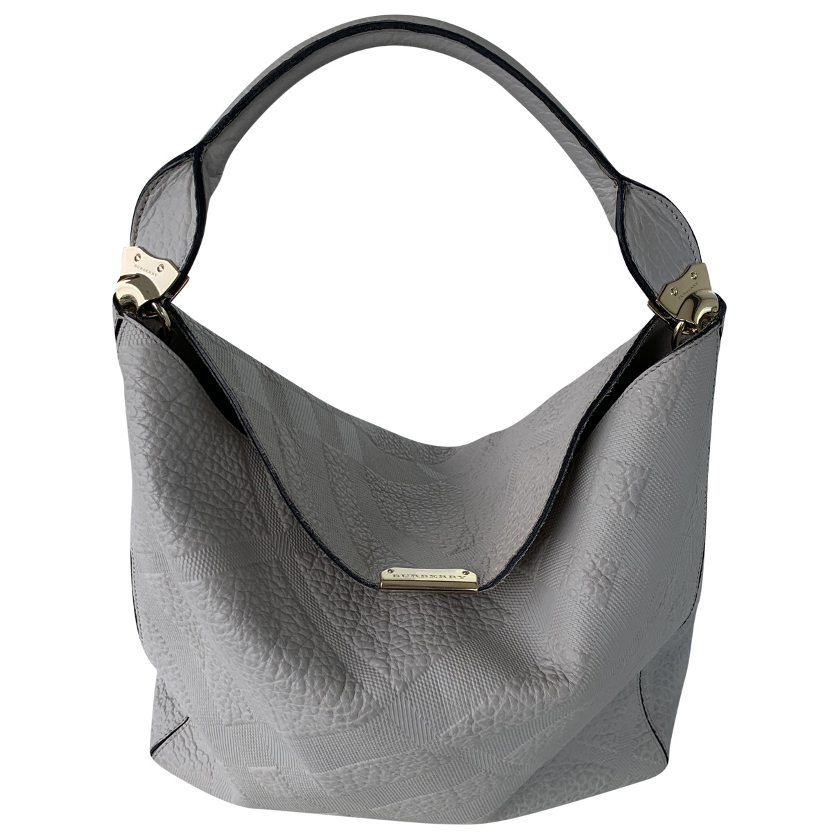 Burberry - Sac a main   pour femme en cuir - gris