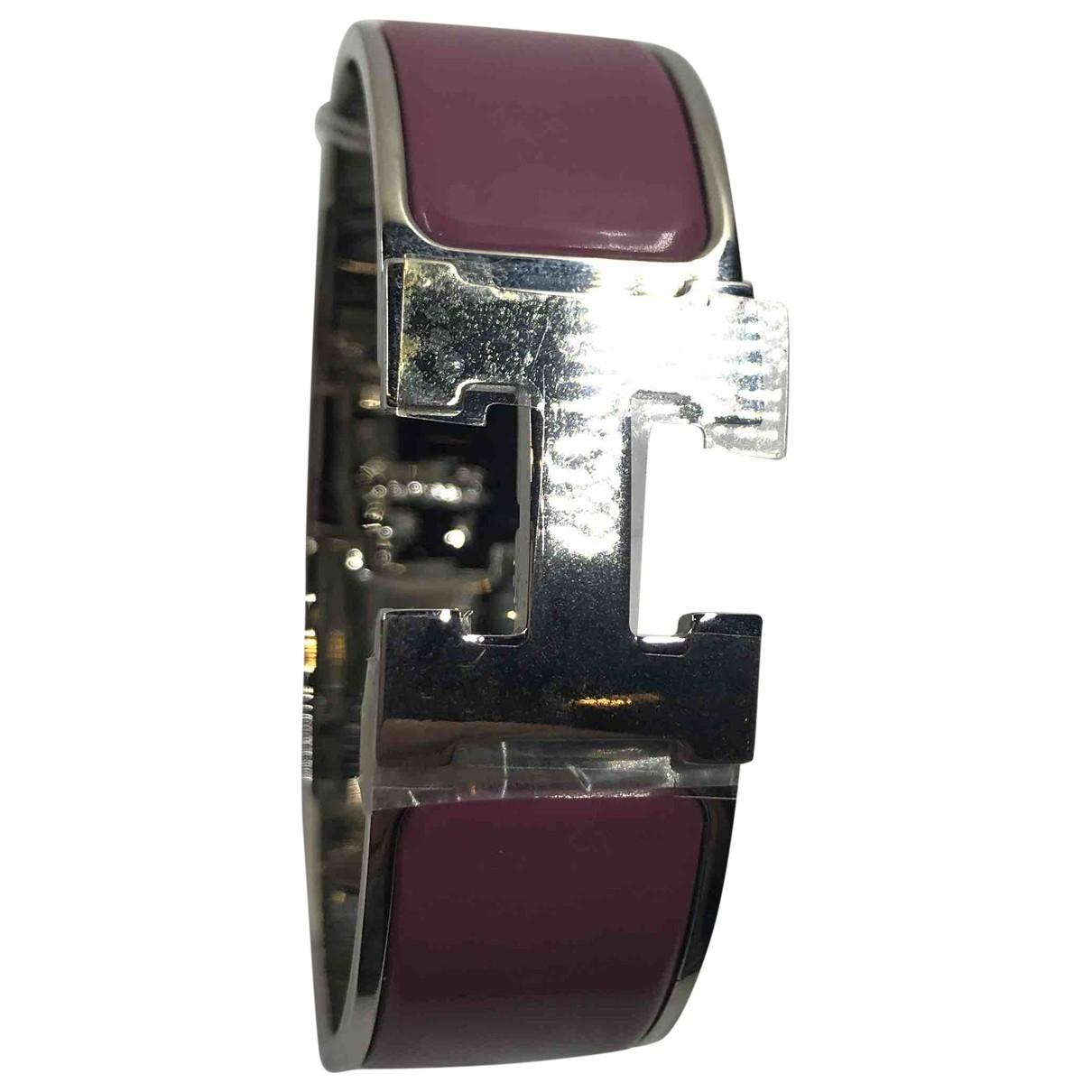 Hermes Clic H Armband in  Silber Metall