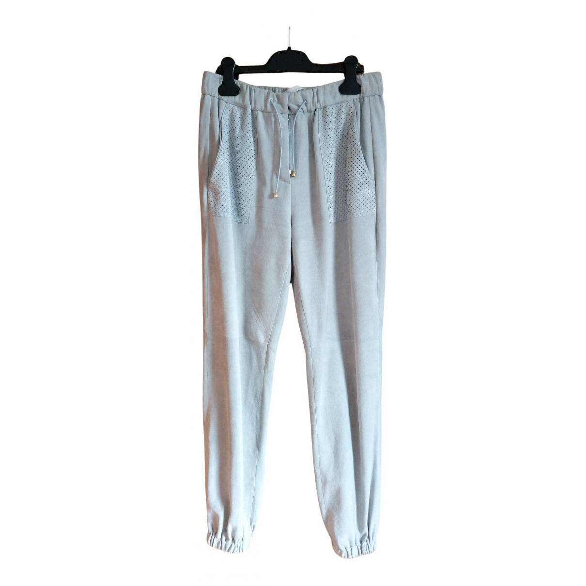 Schumacher N Grey Suede Trousers for Women 2 0-5