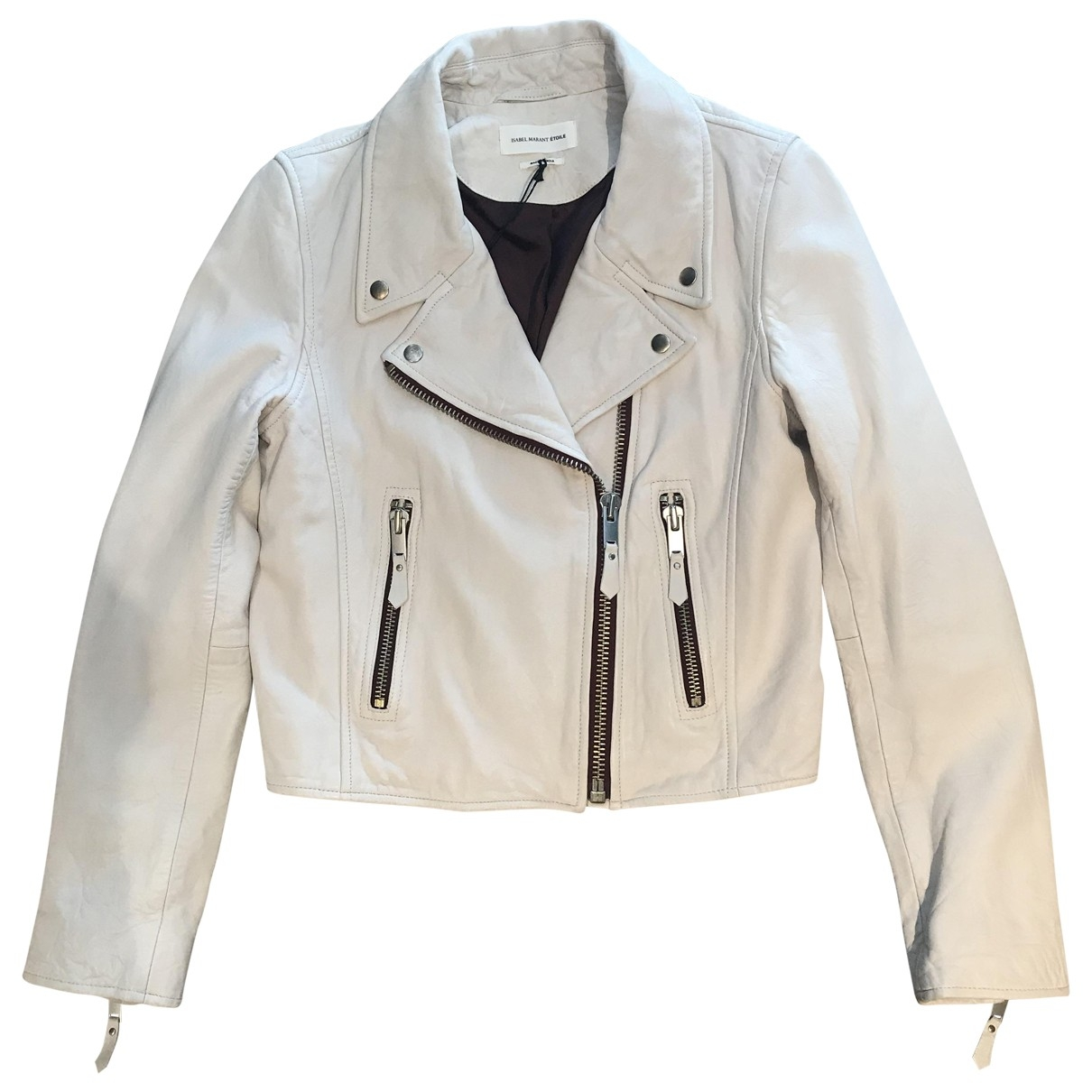 Isabel Marant Etoile \N White Leather jacket for Women 36 FR