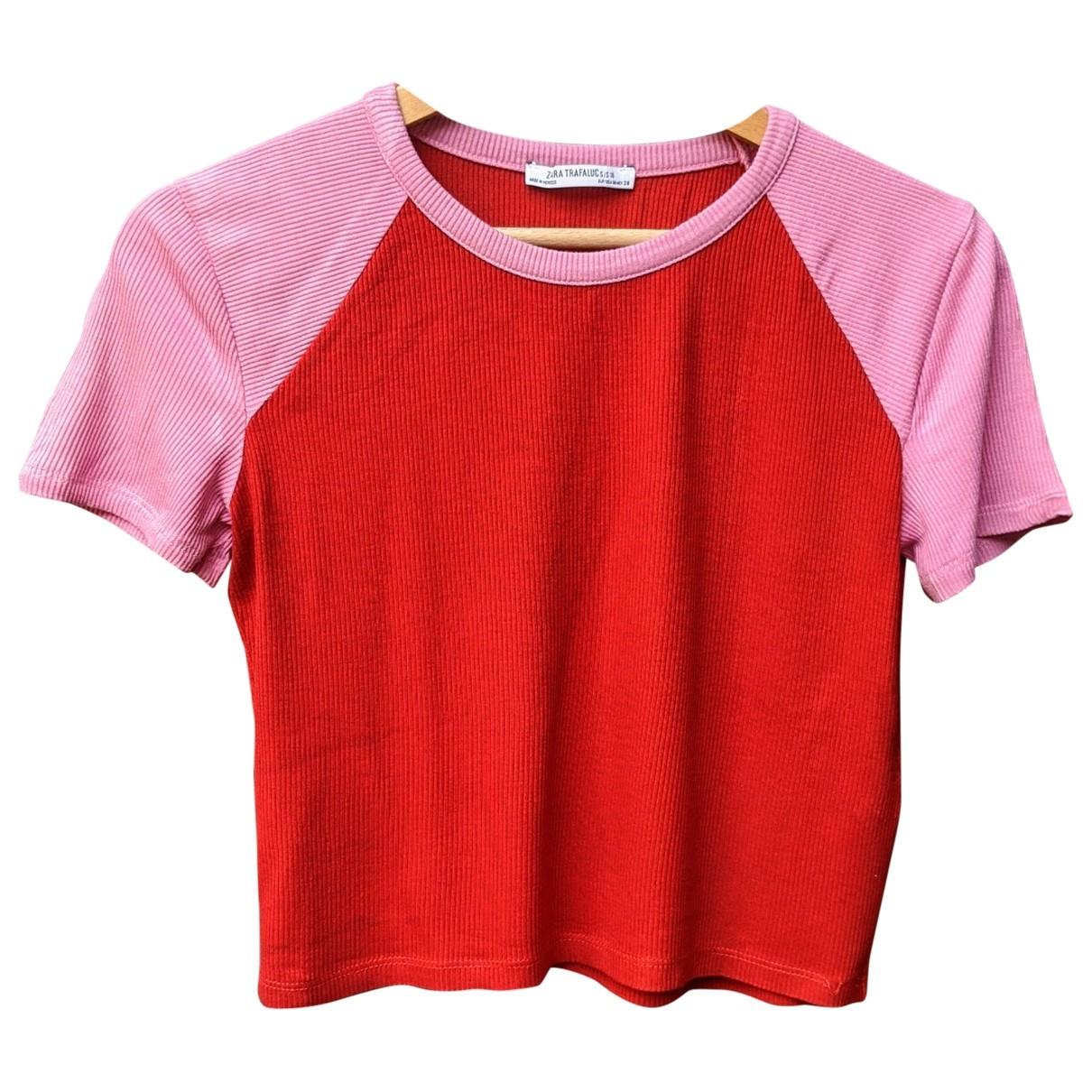 Zara \N Top in  Rot Baumwolle