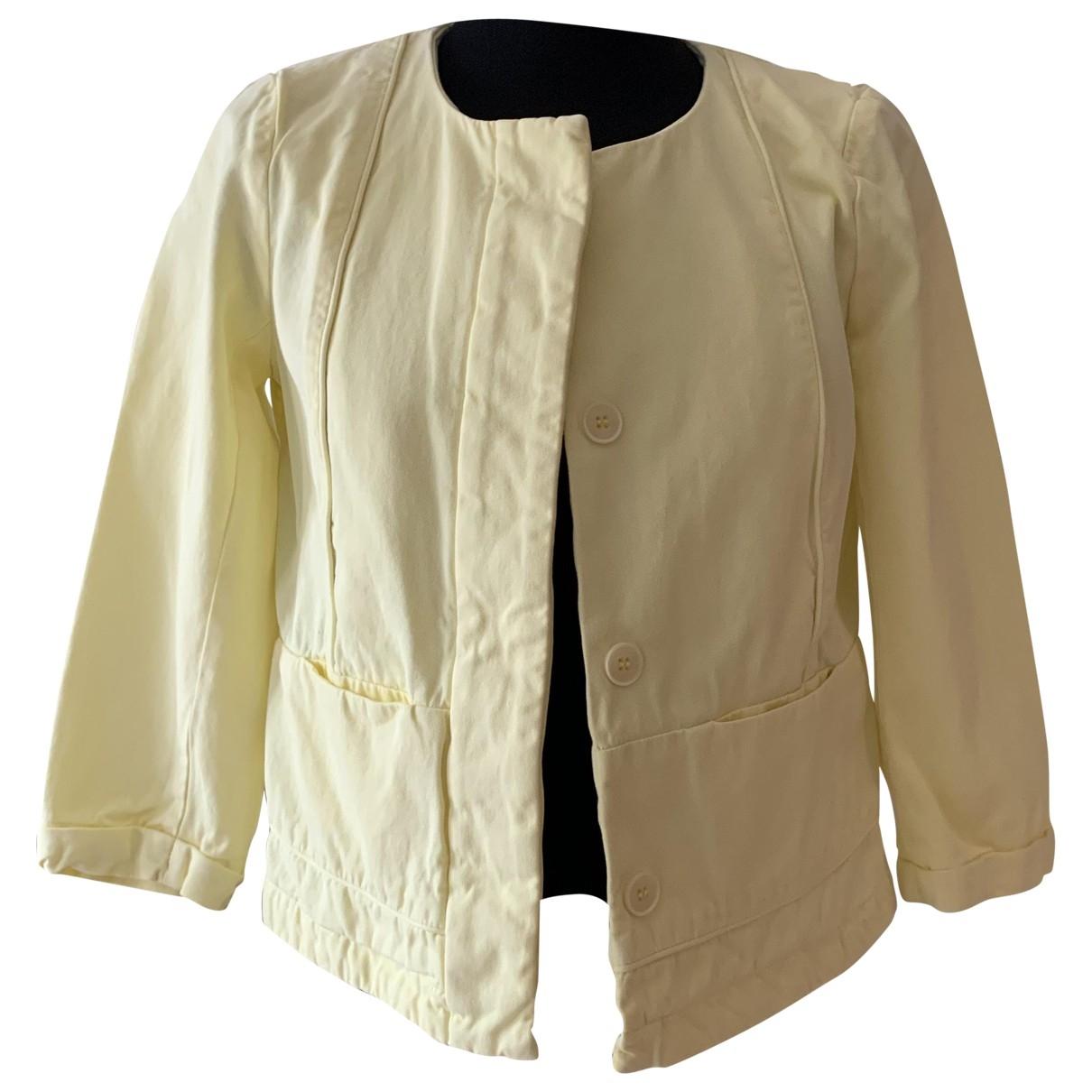 Comptoir Des Cotonniers \N Yellow Cotton jacket for Women 38 FR