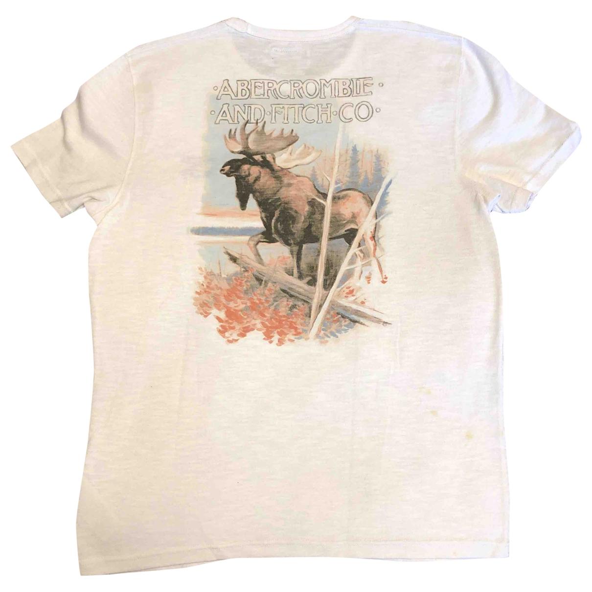 Abercrombie & Fitch - Tee shirts   pour homme en coton - blanc