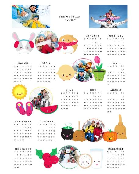 Calendar 16x20 Adhesive Poster, Home Décor -Joy Emoji