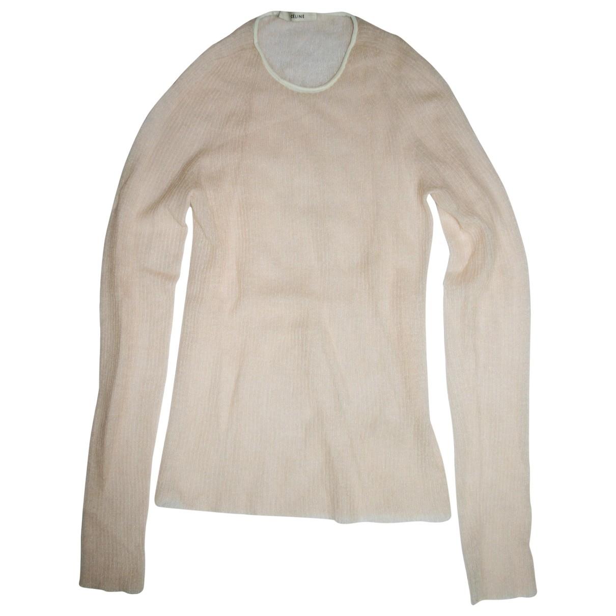 Celine \N Beige Cotton Knitwear for Women 36 FR