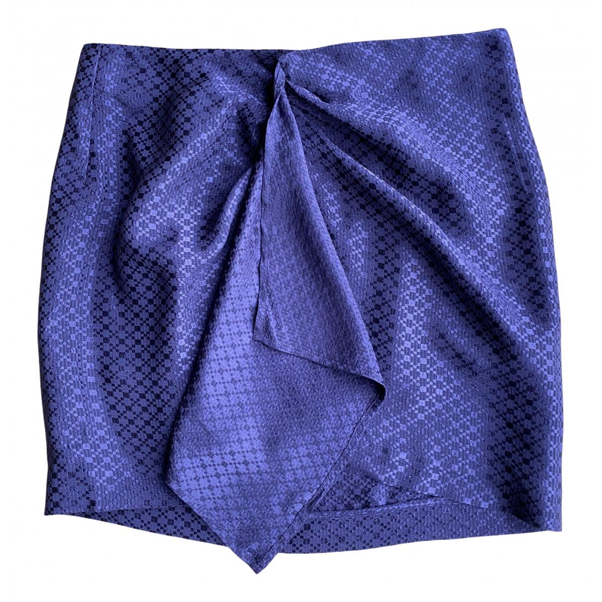 Les Petites N Purple Silk skirt for Women 36 FR