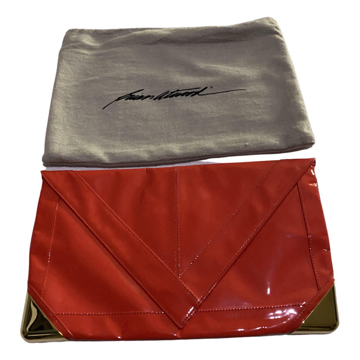 Brian Atwood \N Red Patent leather Clutch bag for Women \N
