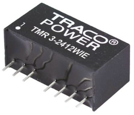 TRACOPOWER TMR 3HI 3W Isolated DC-DC Converter Through Hole, Voltage in 18 → 36 V dc, Voltage out 3.3V dc