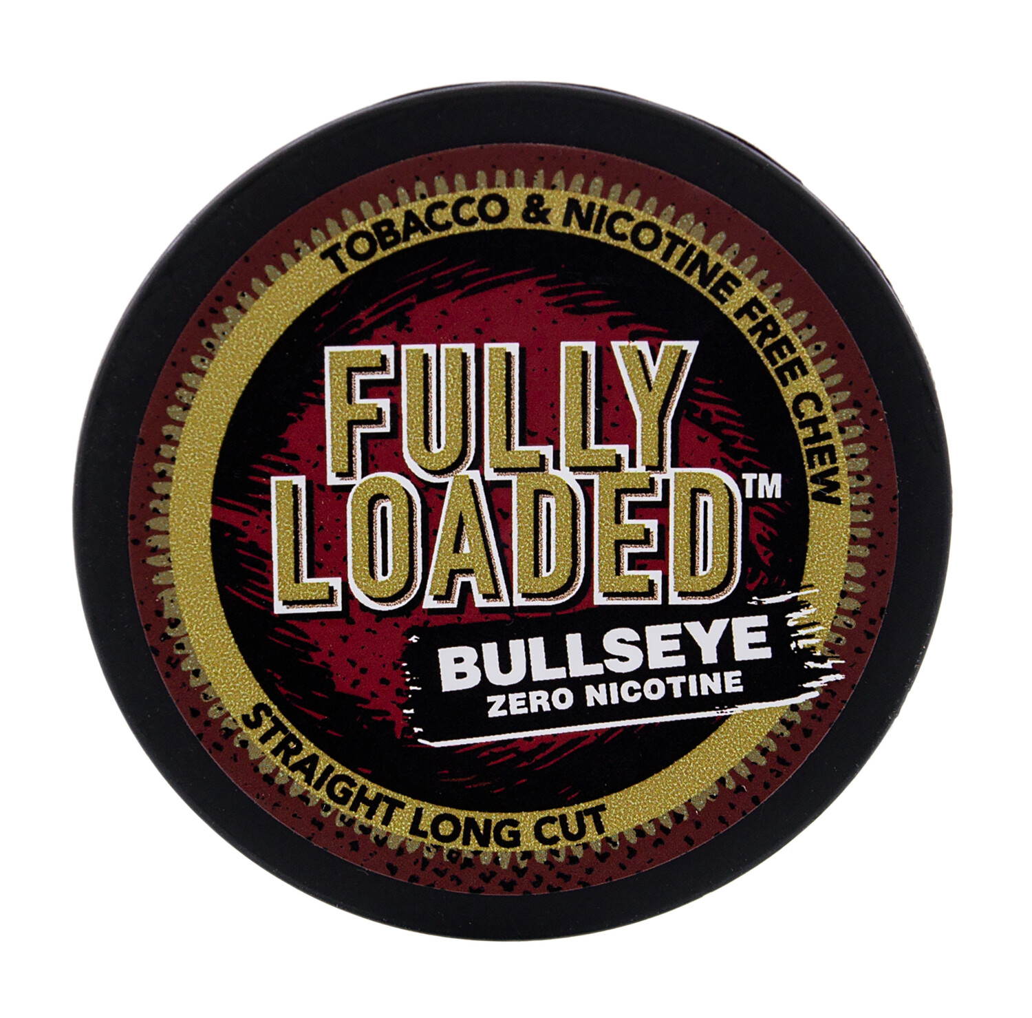 Fully Loaded Chew Tobacco and Nicotine Free Straight Bullseye Long Cut Authentic Flavor, Chewing Alternative