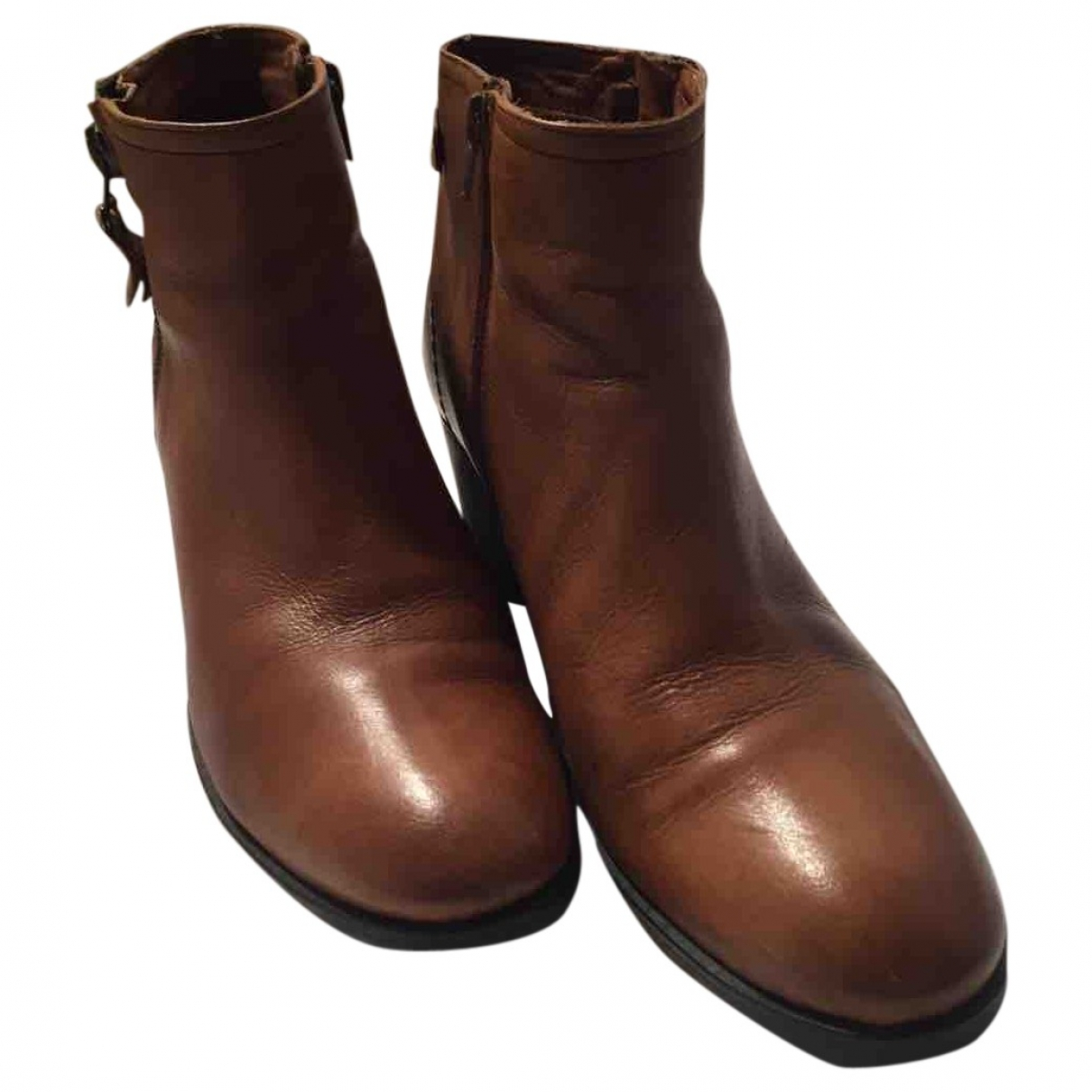Non Signé / Unsigned \N Camel Leather Ankle boots for Women 41 EU
