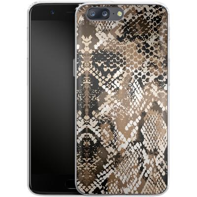 OnePlus 5 Silikon Handyhuelle - Snakeskin von caseable Designs
