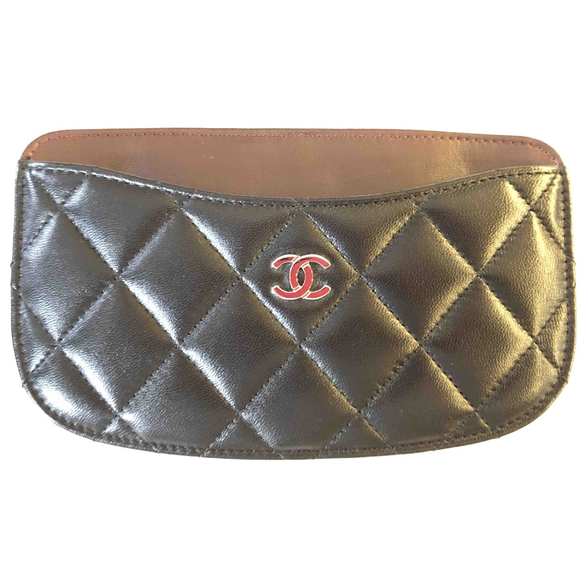 Chanel Timeless/Classique Black Leather Purses, wallet & cases for Women \N