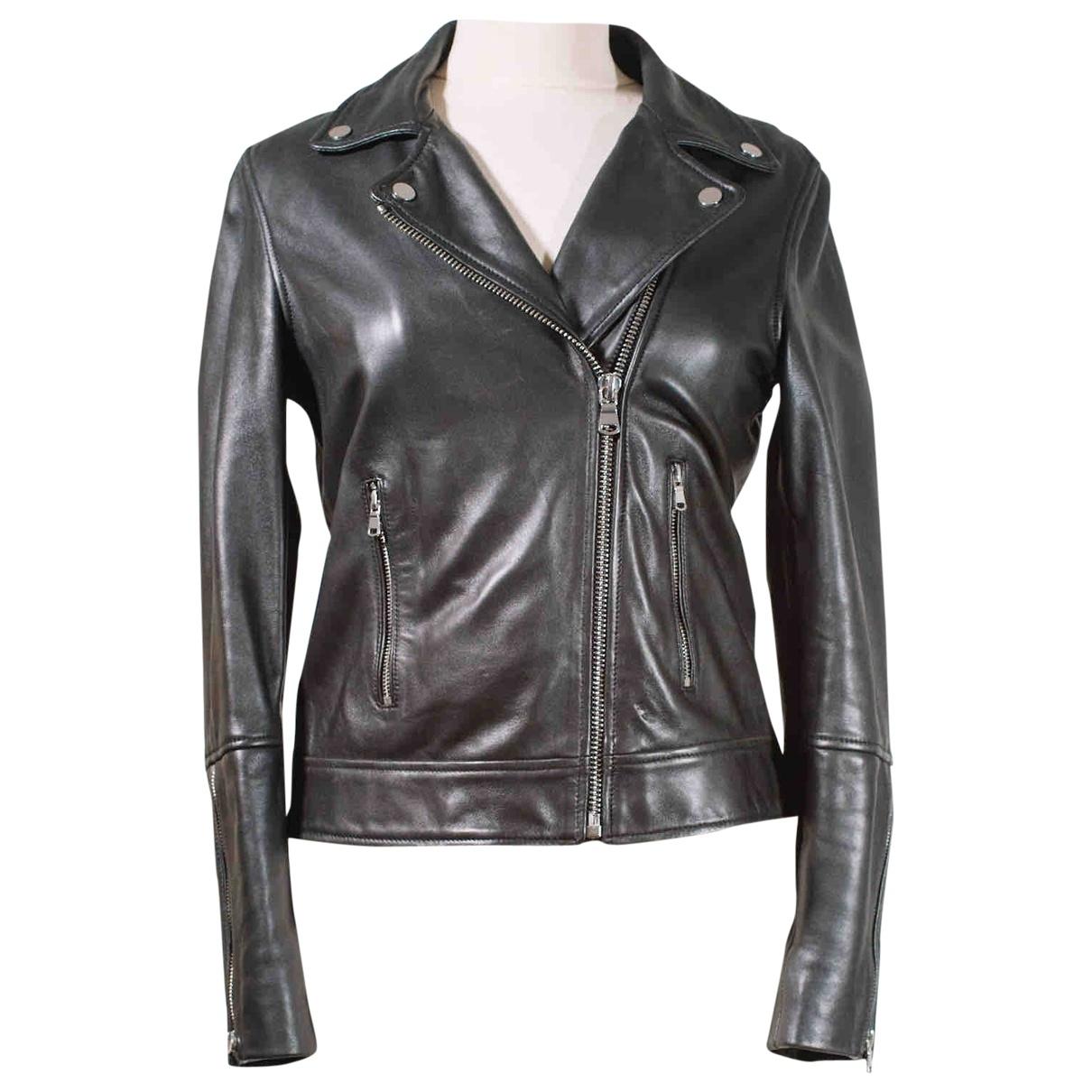 Zapa - Veste   pour femme en cuir - noir
