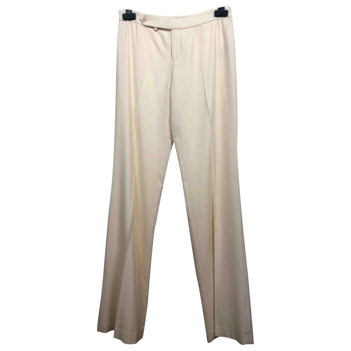 Ralph Lauren \N Beige Wool Trousers for Women 4 US