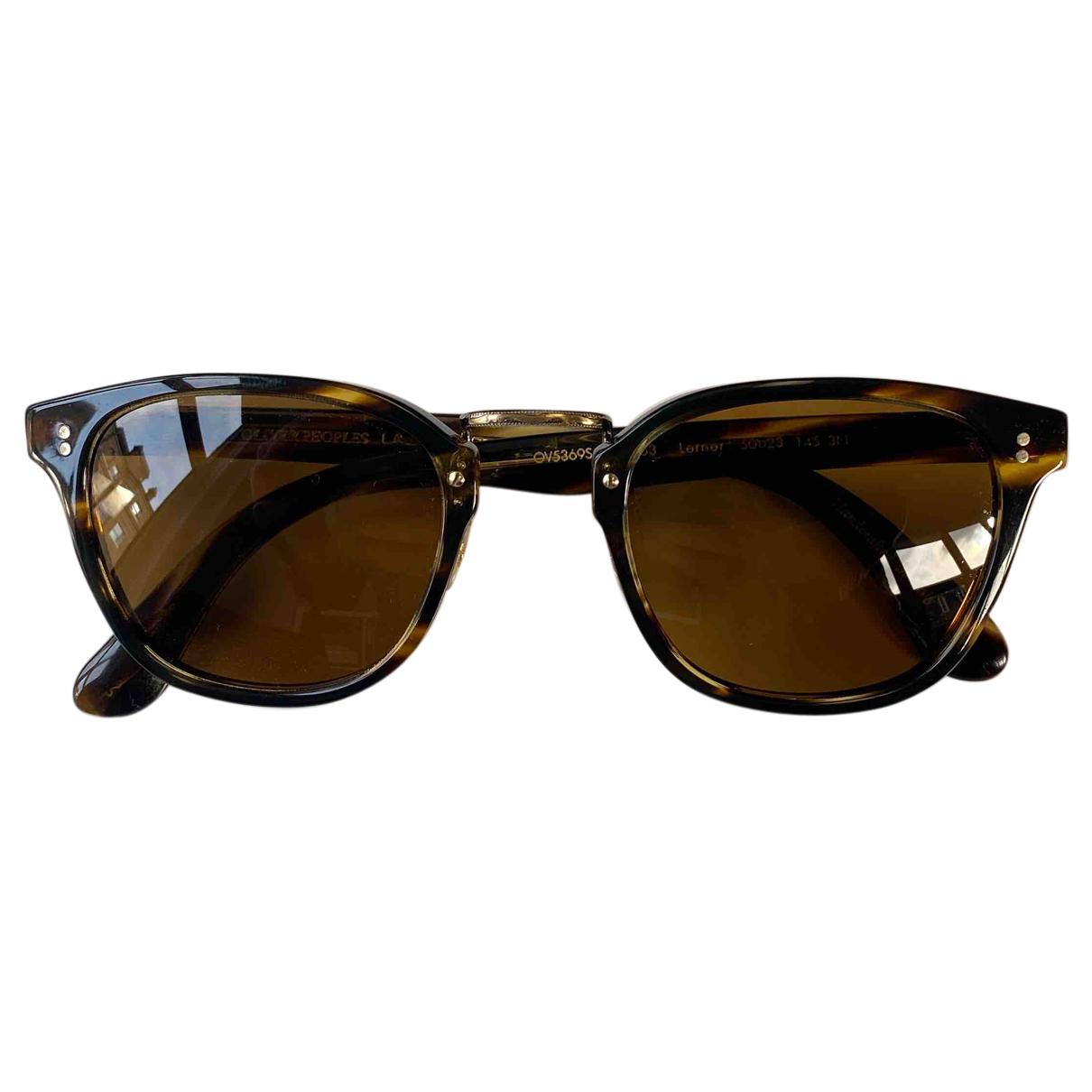 Oliver Peoples N Brown Metal Sunglasses for Men N
