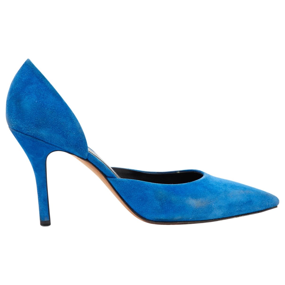 Celine - Escarpins   pour femme en suede - bleu