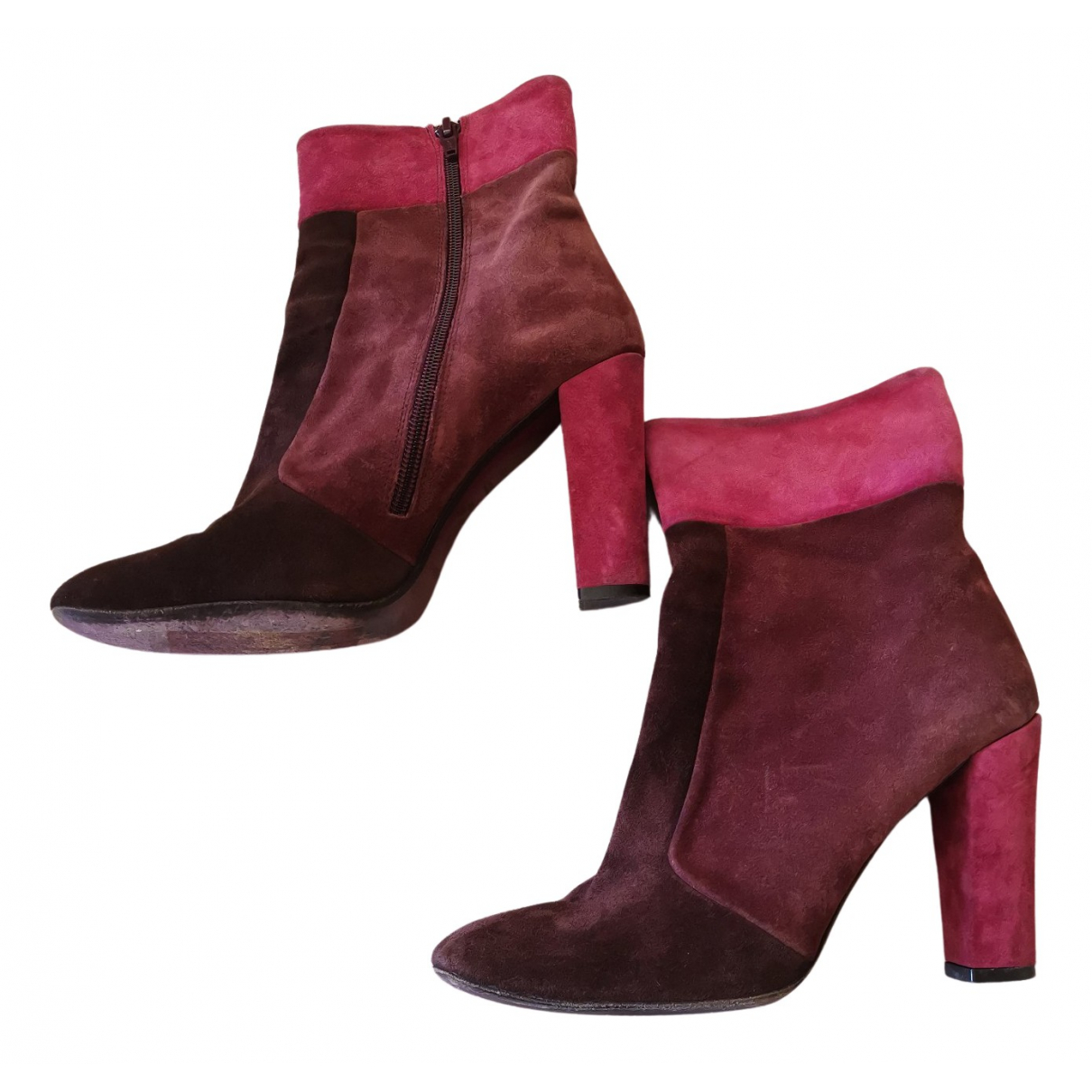 Maliparmi N Burgundy Suede Ankle boots for Women 39 EU