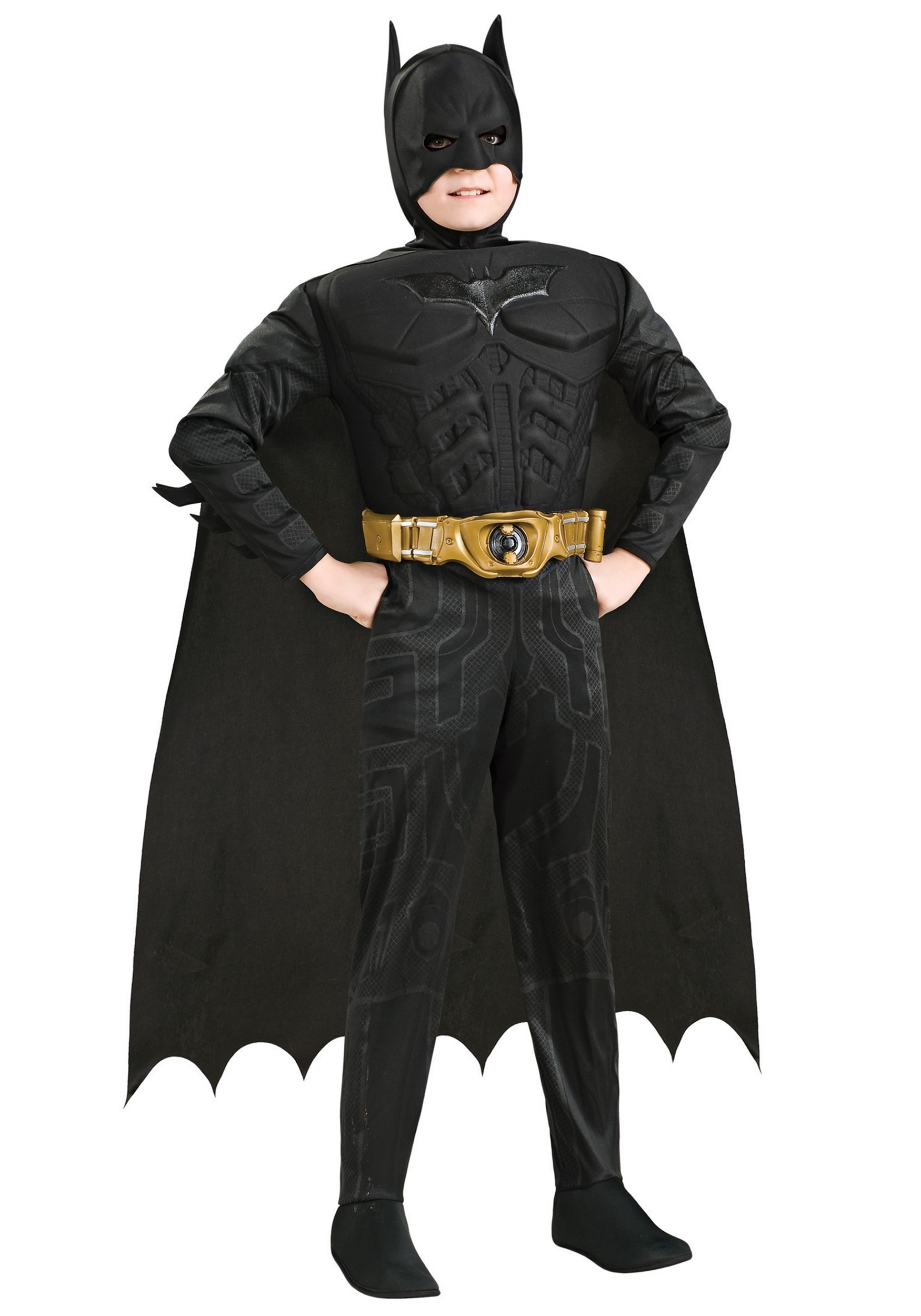Deluxe Dark Knight Batman Costume for Kids