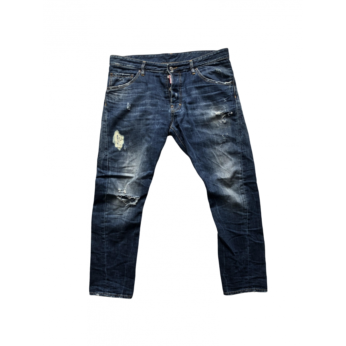 Dsquared2 \N Blue Cotton Jeans for Men 34 US
