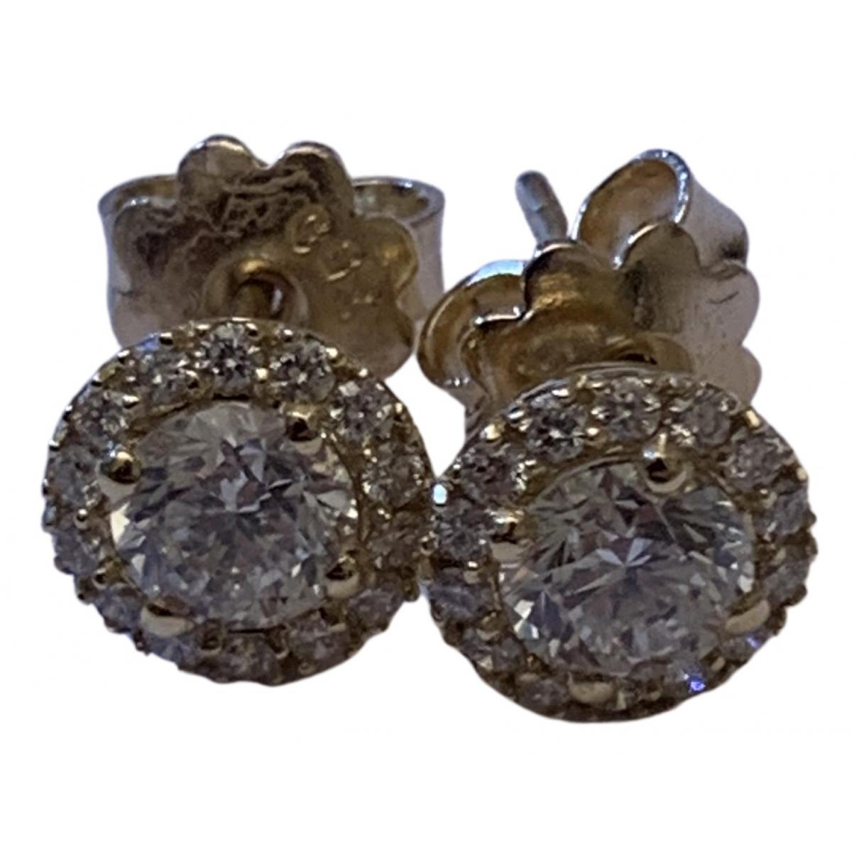 - Boucles doreilles Puces en diamants pour femme en or jaune - jaune