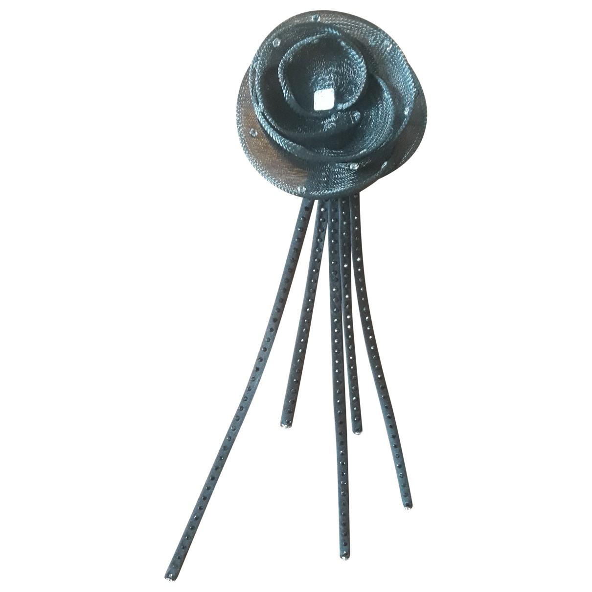 Emporio Armani \N Black Metal Pins & brooches for Women \N