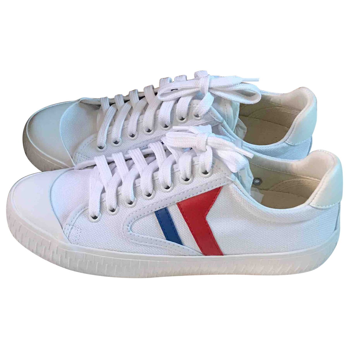 Celine Delivery White Cloth Trainers for Women 37 EU