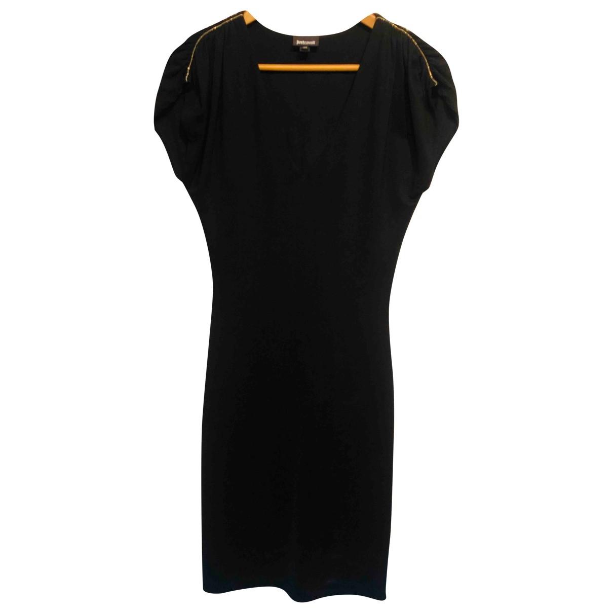 Just Cavalli - Robe   pour femme en coton - elasthane - noir