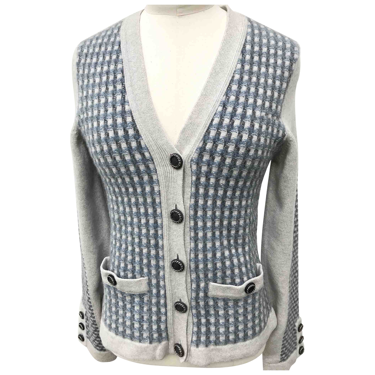 Chanel \N Pullover in  Blau Kaschmir