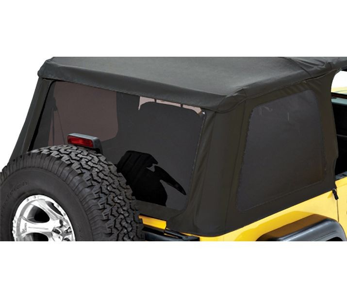 Bestop 58420-17 Black Twill Tinted Window Kit for Trektop NX Jeep Wrangler 1997-2006