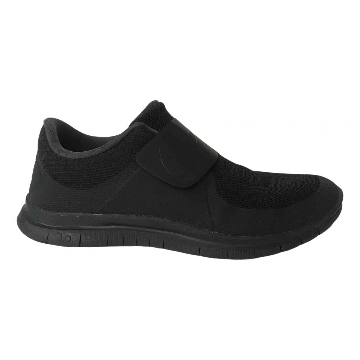 Nike \N Sneakers in  Schwarz Leinen