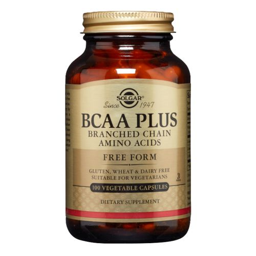 BCAA Plus Vegetable Capsules (Branched Chain Amino Acids) 100 V Caps by Solgar