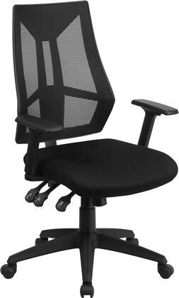 HL-0017-GG High Back Black Mesh Multifunction Swivel Ergonomic Task Office Chair with Adjustable