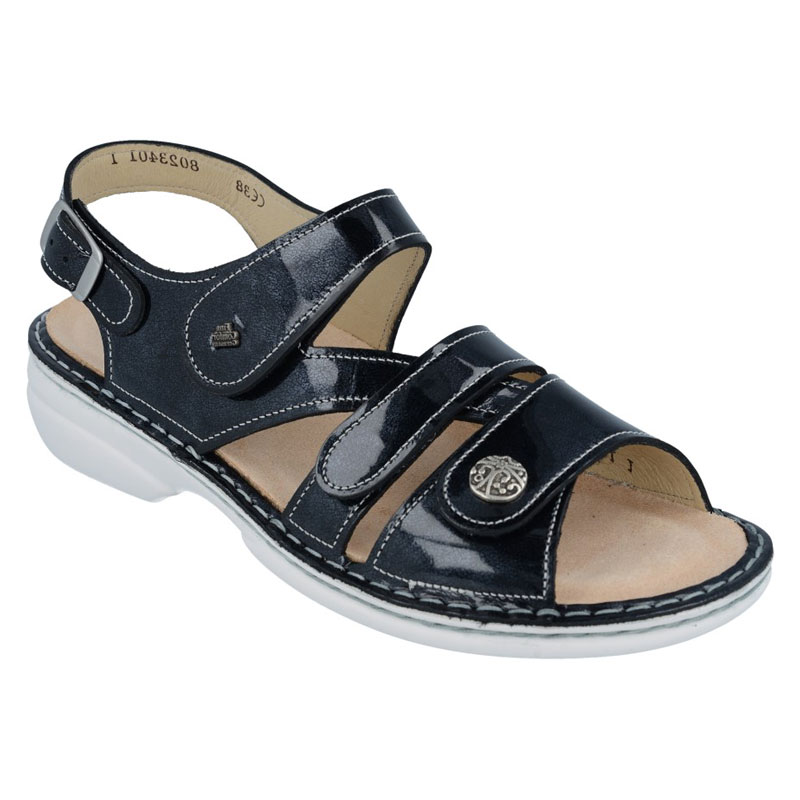 Finn Comfort Gomera Atlantic Patent Leather Soft Footbed 40