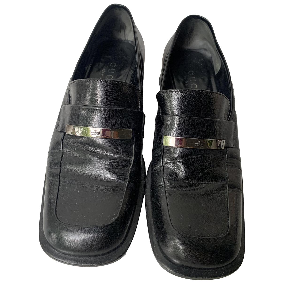Gucci \N Mokassins in  Schwarz Leder
