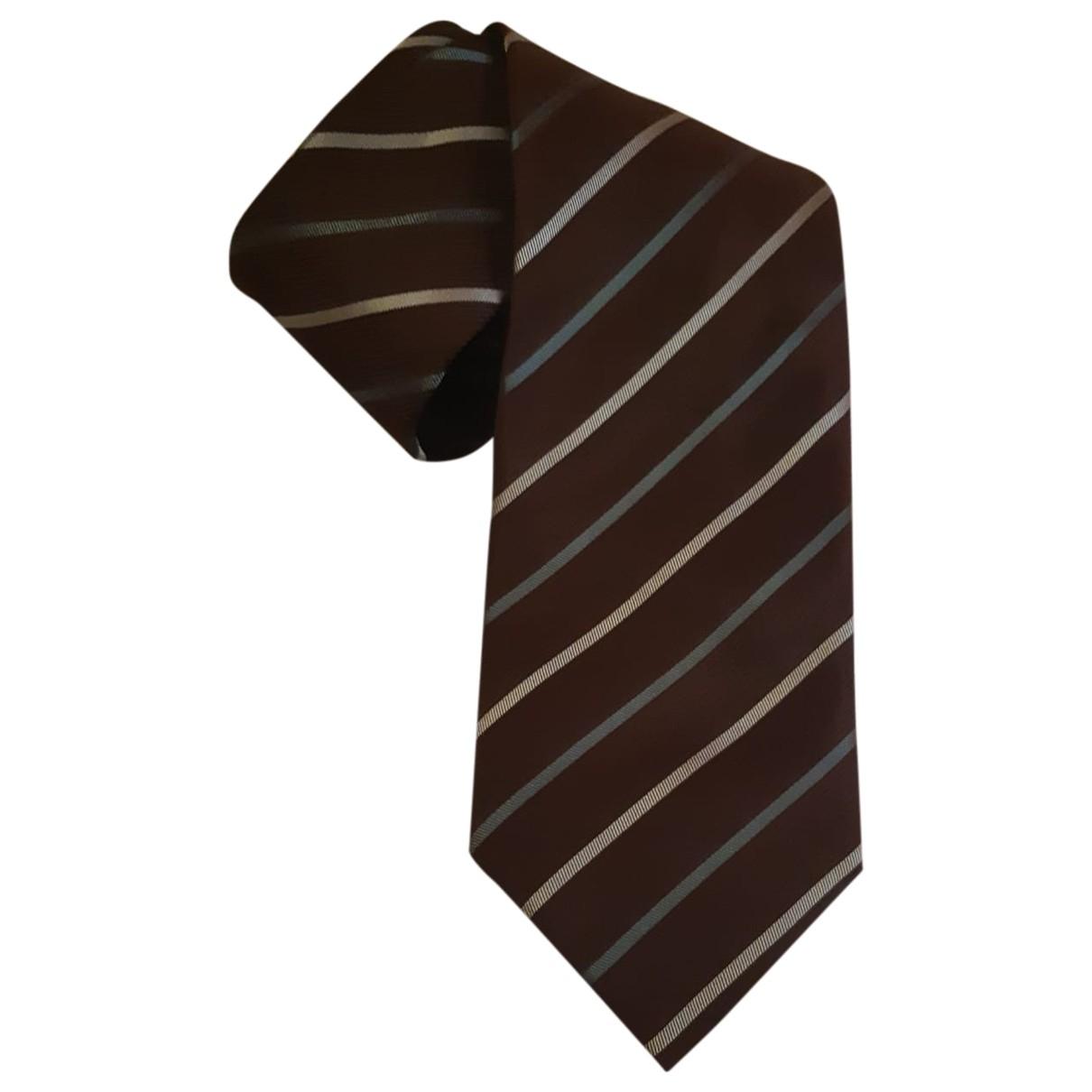 Giorgio Armani \N Krawatten in  Braun Seide