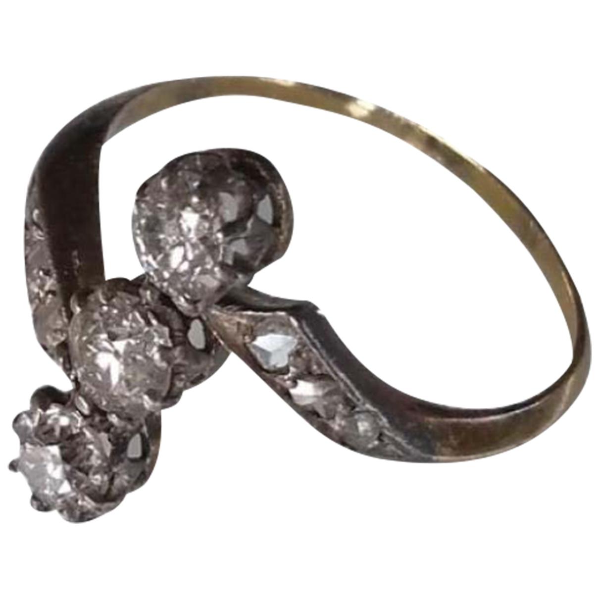 - Bague Solitaire pour femme en or blanc - metallise
