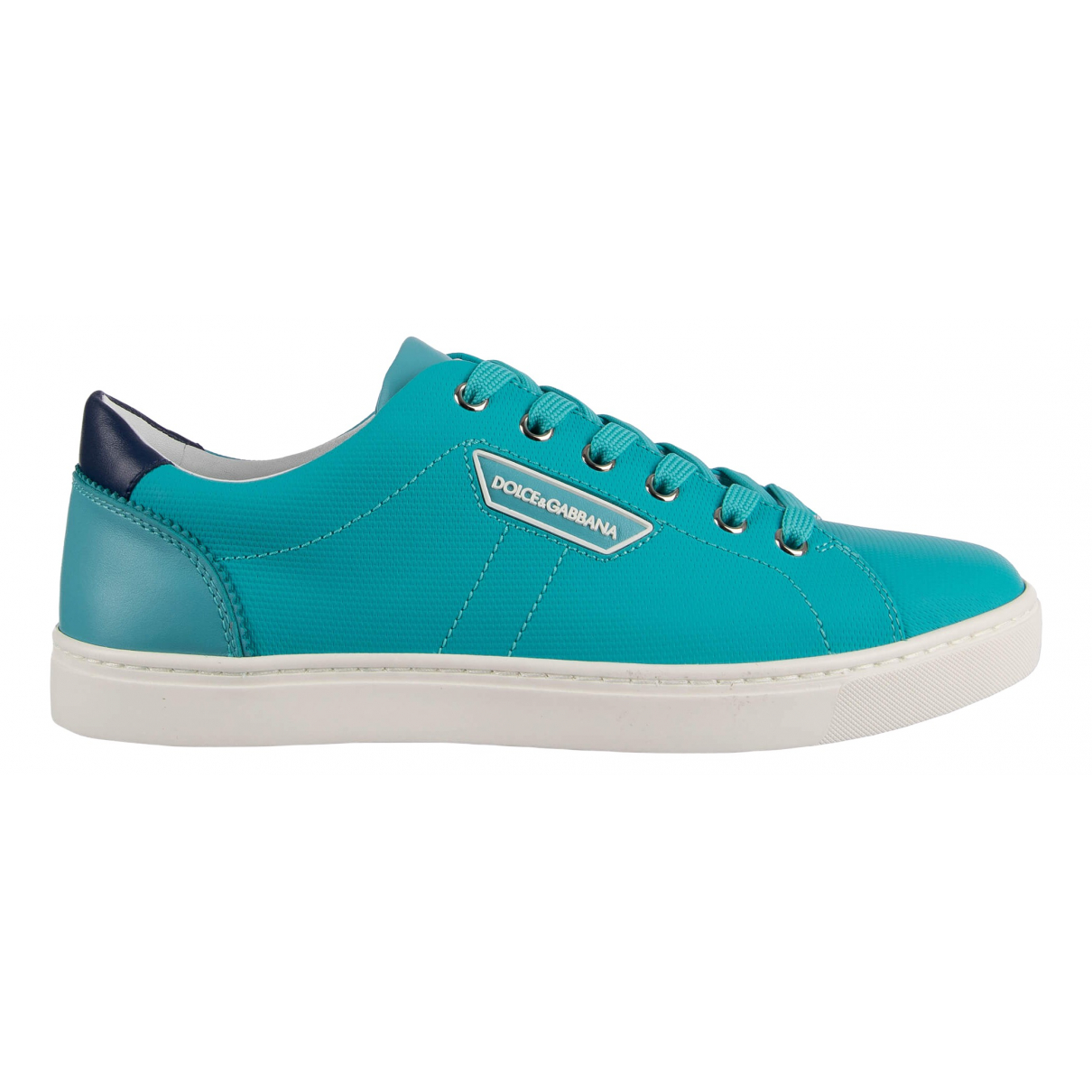 Dolce & Gabbana \N Turquoise Leather Trainers for Men 45 EU