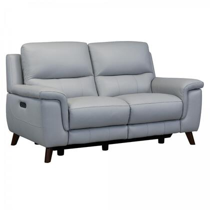 LCLZ2DV Lizette Contemporary Loveseat in Archaize Wood Finish and Dove Grey Genuine