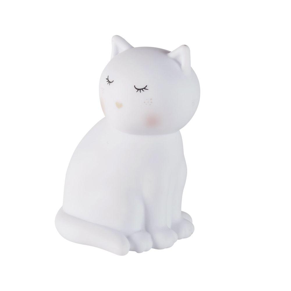 Nachtlicht Katze, weiss