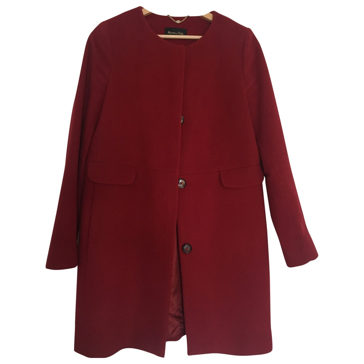 Massimo Dutti \N Maentel in  Rot Wolle