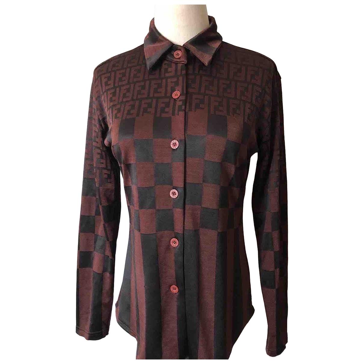 Fendi \N Brown Cotton  top for Women 44 IT