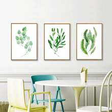 3pcs Plants Print Wall Painting Without Frame