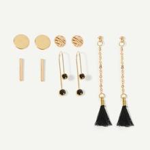 Bar & Tassel Drop Earrings 5pairs